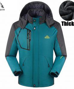PEILOW Thicken warm Winter jacket women and men`s Waterproof Windproof Hooded Coats men fleece hood Big Size 5XL,6XL,7XL,8XL,9XL