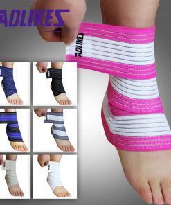 1pcs High Quality Ankle Support Spirally Wound Bandage Volleyball Basketball Ankle Orotection Adjustable Elastic Bands 1