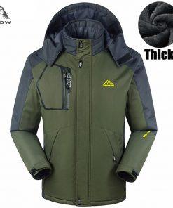 PEILOW Thicken warm Winter jacket women and men`s Waterproof Windproof Hooded Coats men fleece hood Big Size 5XL,6XL,7XL,8XL,9XL 1