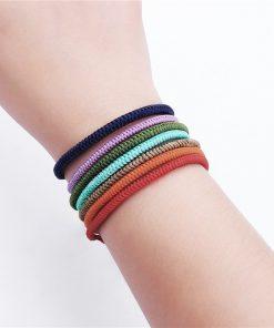 DIEZI New Multi Color Tibetan Buddhist Good Lucky Charm Tibetan Bracelets & Bangles For Women Men Handmade Knots Rope Bracelet 1