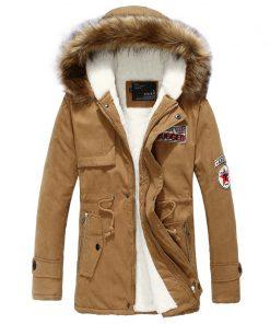 Danjeaner New Winter Jacket Fur Collar Men'S Down Jacket Cotton-padded Coat Thickening Jacket Parka Men Manteau Homme Hiver  1