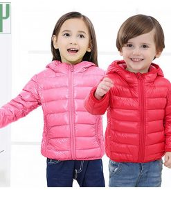 HH children jacket Outerwear Boy and Girl autumn Warm Down Hooded Coat teenage parka kids winter jacket 2-13 years Dropshipping 1