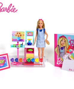 Original Barbie Little Artist Of Barbie Princess Girl Doll Suit American Girl Doll Birthday Gift Toys For Children Girls FRL35
