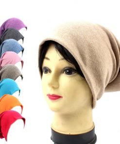 Winter Beanies Autumn Gorros 20 Color Womens Beanie Hat Women Cotton Solid High Cost Performance Casual Multifunctional Skullies 1