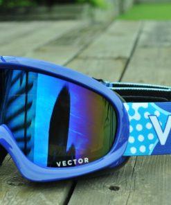 VECTOR Children Ski Goggles Set For Girls Boys Double Lens UV400 Anti-fog Snow Skiing Glasses Kids Winter Eyewear 1