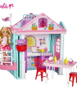 Barbie Original Little Toy For Story House Kelly Dollhouse Cute Girl Birthday Toys For Children Gifts Fashion Dolls For Girls