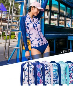 VECTOR Surfing and Diving Rash Guards for Women Swimming Rowing Sailing Surfing Wetsuit Surf Swimwear Rashguard  1