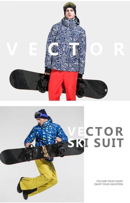 VECTOR Brand Ski Jackets Men Waterproof Windproof Warm Winter Snowboard Jackets Outdoor Snow Skiing Clothes HXF70012 3
