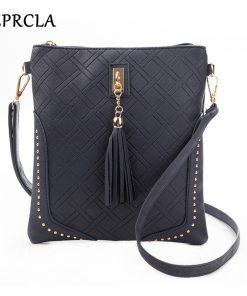 REPRCLA Designer Plaid Women Messenger Bags Fashion Tassel Flap Shoulder Bag PU Leather Women Bag Crossbody Bolsa Feminina 1