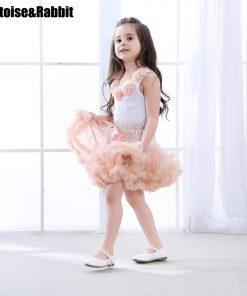2pcs Fashion Baby Girl Floral Clothes Set Girls Pettiskirt Tutu Skirt Set Rosettes Top Princess Birthday Girls Set  8 Colors