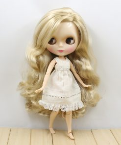 factory blyth doll 280BL3715 long blond hair with joint body side parting about 30cm