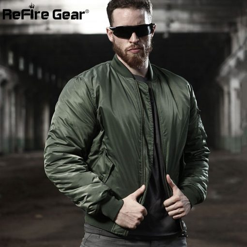MA1 Army Air Force Fly Pilot Jacket Military Airborne Flight Tactical Bomber Jacket Men Winter Warm Aviator Motorcycle Down Coat 2