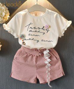 Bear Leader Girls Clothing Sets  2018 New Summer Kid Clothes Set Cartoon Children Clothing Toddler Girl Tops+Shorts