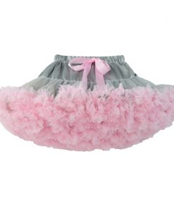 Teenage Girl Fluffy Pettiskirt Solid Layer Skirt Kids Stage Costumes Children Prom Dance Clothing Tulle Tutu Skirts For 15-16Ys 1