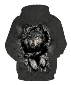 New Size S-3XL Autumn Winter Men/Women 3D Hoodies Animals Wolf man  1