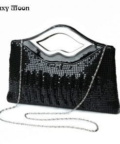 New Luxury Paillette Evening Bags High Quality Handmade Evening Clutch Bags Sequin Beading Fashion Designer Female Purse