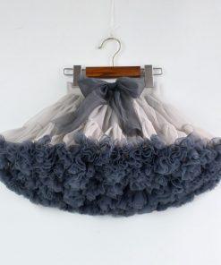 Girl designed tutu skirt new extra fluffy pettiskirt kids fashion princess soft tulle birthday holiday party performance skirt