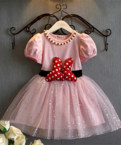 New 2018 Summer Holiday Dresses For Children White Princess Evening Sequins Pink Girl dresses For Girls 4 to 5 Years Outfit Wear 1