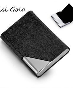 BISI GORO New Design Men And Women Business Name Card Holder ID Card Case Women Bank Card Holder Package Card Wallet Box