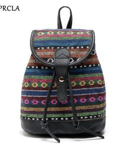 REPRCLA Hot Sale Women Backpacks High Quality Canvas Backpack Fashion Girls School Bags Knapsack Designer High Quality