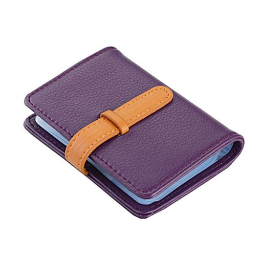 BISI GORO 2019 Business Name Card Holder Leather RFID Blocking Credit Card Case Buckle Men Women Sim Plastic Card Holders 2