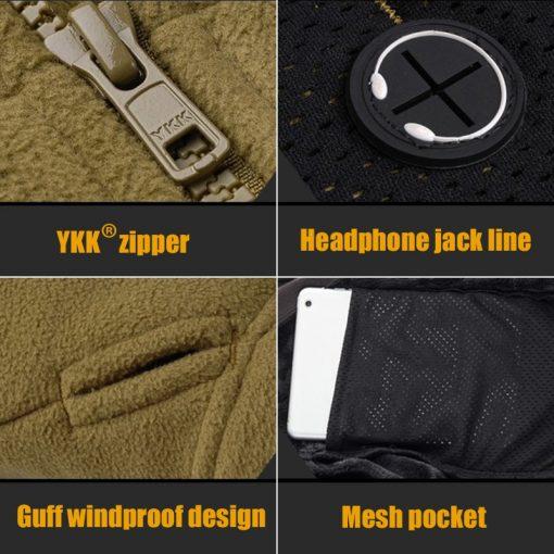 FREE SOLDIER Outdoor Sports Camping Hiking Jackets Men's Clothing Tactical Fleece Jacket Warm Fleece Coat For Men  2