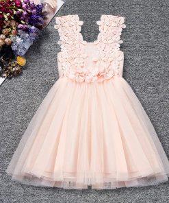Summer Toddler Baby Girl Dress Infant Floral Baptism Gown for Girls 2-6T Tulle Birthday Party Sundress Clothes vestido infantil