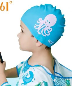 361 Children Swimming Cap Silicone Kids Swimming Caps for Pool Waterproof Ear Protection Boys Girls Cartoon Swim Cap Hat 1