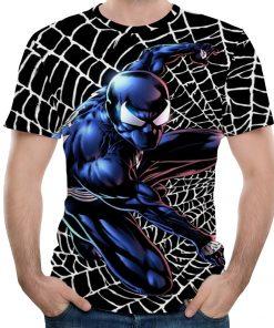 Men Fitness Quick Drying Compression Shirt 3D T-Shirt Leisure Marvel Super Heroes Avengers Cartoon Spiderman Short SleeveT-Shirt