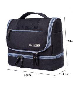 Travel Organizer Cosmetic Bag for Women Necessaries Makeup Bag Case Men Waterproof Hanging Oxford Unisex Toiletry Kits Bag 1