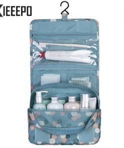 Hanging Travel Cosmetic Bag Women Zipper Make Up Bag Polyester High Capacity Makeup Case handbag Organizer Storage Wash Bath Bag 1