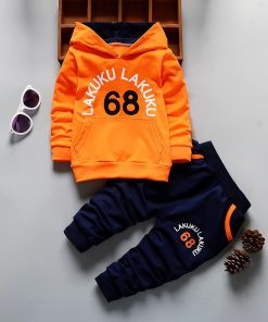 EOICIOI spring autumn baby boys girls clothing sets number letters printed hoodies jacket coats+long pants 2pcs sports suit 1
