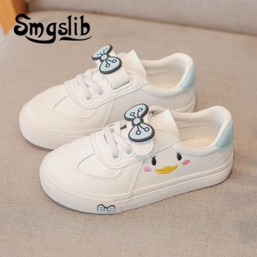 Girls Shoes Children Sneakers Kids 2018 Spring Autumn Casual Sneakers Infant Classic School Shoes Bow White Loafers Footwear 2