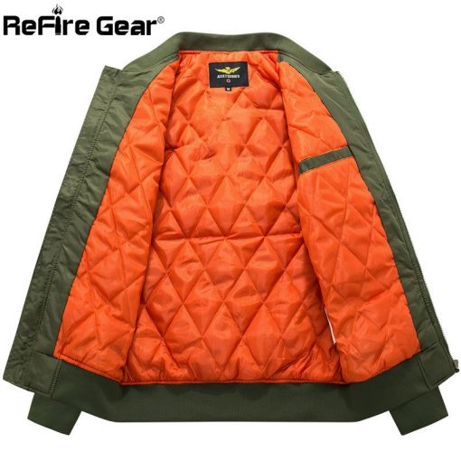 MA-1 Tactical Air Force Bomber Jacket Men Military Warm Padded Airborne Flight Army Jacket Winter Blue Motorcycle Pilot Coat 8XL 4