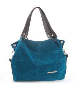 DAUNAVIA brand handbag women shoulder bag female large tote bag soft Corduroy leather bag crossbody messenger bag for women 2019 1