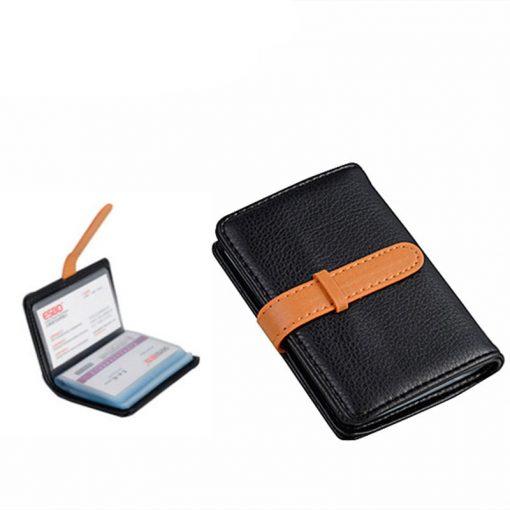 BISI GORO 2019 Business Name Card Holder Leather RFID Blocking Credit Card Case Buckle Men Women Sim Plastic Card Holders 5