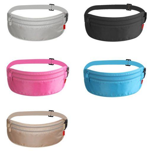 Women Polyester Belt Bags Waist Packs Bags Unisex Nylon Waistband For Accessory Small Travel Bag 5