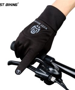 WEST BIKING Winter Cycling Gloves Men Women Full Finger Touch Screen Waterproof Keep Warm High Elasticity Bike Bicycle Gloves 1