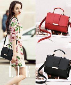 REPRCLA 2018 Summer Fashion Women Bag Leather Handbags PU Shoulder Bag Small Flap Crossbody Bags for Women Messenger Bags 1
