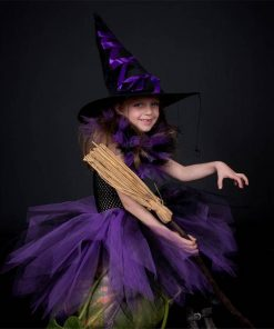 Little Witch Baby Halloween Costume for Girls Tulle Tutu Dress Kids Party Dresses Girl Children Cosplay Costume Festa Infantil  1