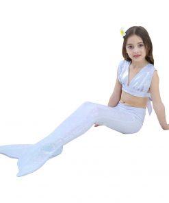 Mermaid Tail Costume For Girls 3-12 Years Kids Children Mermaid Tail For Swimming Bikini Bathing Suit Set Cosplay 1