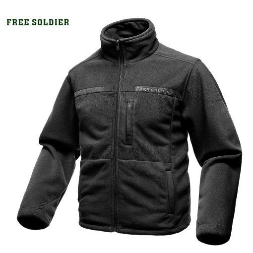 FREE SOLDIER Outdoor Sports Camping Hiking Jackets Men's Clothing Tactical Fleece Jacket Warm Fleece Coat For Men