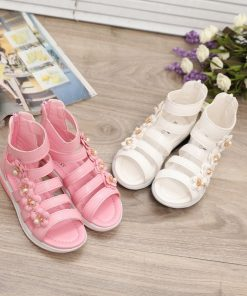 Girls Shoes Sandals Kids Leather Shoes Children Floral Gladiator Sandals Baby Girls Flat Princess Beach Shoes Kids Casual Shoes 1