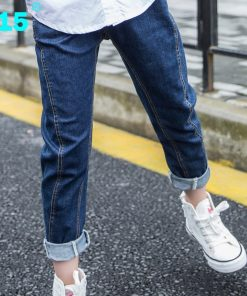A15 Teenage Girl Jeans Pants Spring Autumn New Big Children Jeans for Girl Trousers 2017 Denim Jeans Kids Size 6 8 10 12 14 Year 1