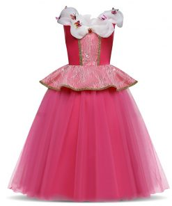 Halloween Princess Dress Girl Cinderella Cosplay Costume Children Long Prom Ball Gown Party Christmas Kids Girls Clothes 4 8 10Y
