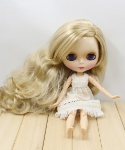 factory blyth doll 280BL3715 long blond hair with joint body side parting about 30cm  1