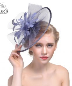 WELROG Fashion Fascinator Hat with Feather For Women Girls Wedding Mesh Ribbon Church Cocktail and Kentucky Derby Tea Party 1