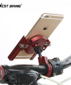 WEST BIKING Universal MTB Bikes Phone Stand Aluminum Bicycle Handlebar GPS Motorcycle Cycling Mount Holder for iPhone Samsung
