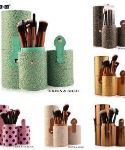 MAANGE 12pcs Professional Cosmetic Makeup Brush Set Beatuy Power Foundation Make Up Brushes Tool Kit + Holder Case Cup maquiagem 1