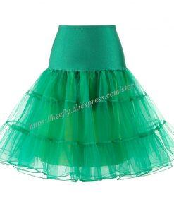 Tulle Skirts Womens Fashion High Waist Pleated Tutu Skirt Retro Vintage Petticoat Crinoline Underskirt Faldas Women Skirt saia 1